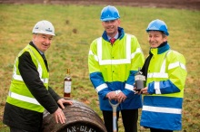 Bill-Robertson-Ian-Curle-and-Graham-Stirk-at-The-Macallan-distillery