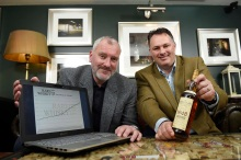 Pic Greg Macvean - 07/04/2016 - 07971 826 457 Andy Simpson and David Robertson of Rare Whisky 101 pictured in the Whisky Snug at Hotel Du Vin, Edinburgh